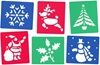 A brilliant set of washable stencils depicting six familiar Christmas characters. Excellent for craft activities and displays, these handy stencils encourage creativity from children with different levels of ability. Ages: 3+ Price: £2.95 inc. VAT