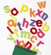 These beautifully made, colourful felt alphabet motifs are available in upper and lower case in both small and large sizes, ideal for table top activities and classroom displays. 