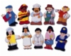 A set of 10 colourful, beautifully detailed finger puppets representing different careers from farmer to fireman.  Velcro pads on the reverse make them ideal for display purposes.   Ages:  3+  Price:  �15.95 inc. VAT