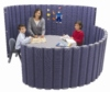 These flexible, lightweight, carpet covered room dividers are a perfect solution for creating quiet areas in the classroom.   Mobile, easy to roll up for storage and amazingly sound absorbent!  Prices From:  �499.00 inc. VAT