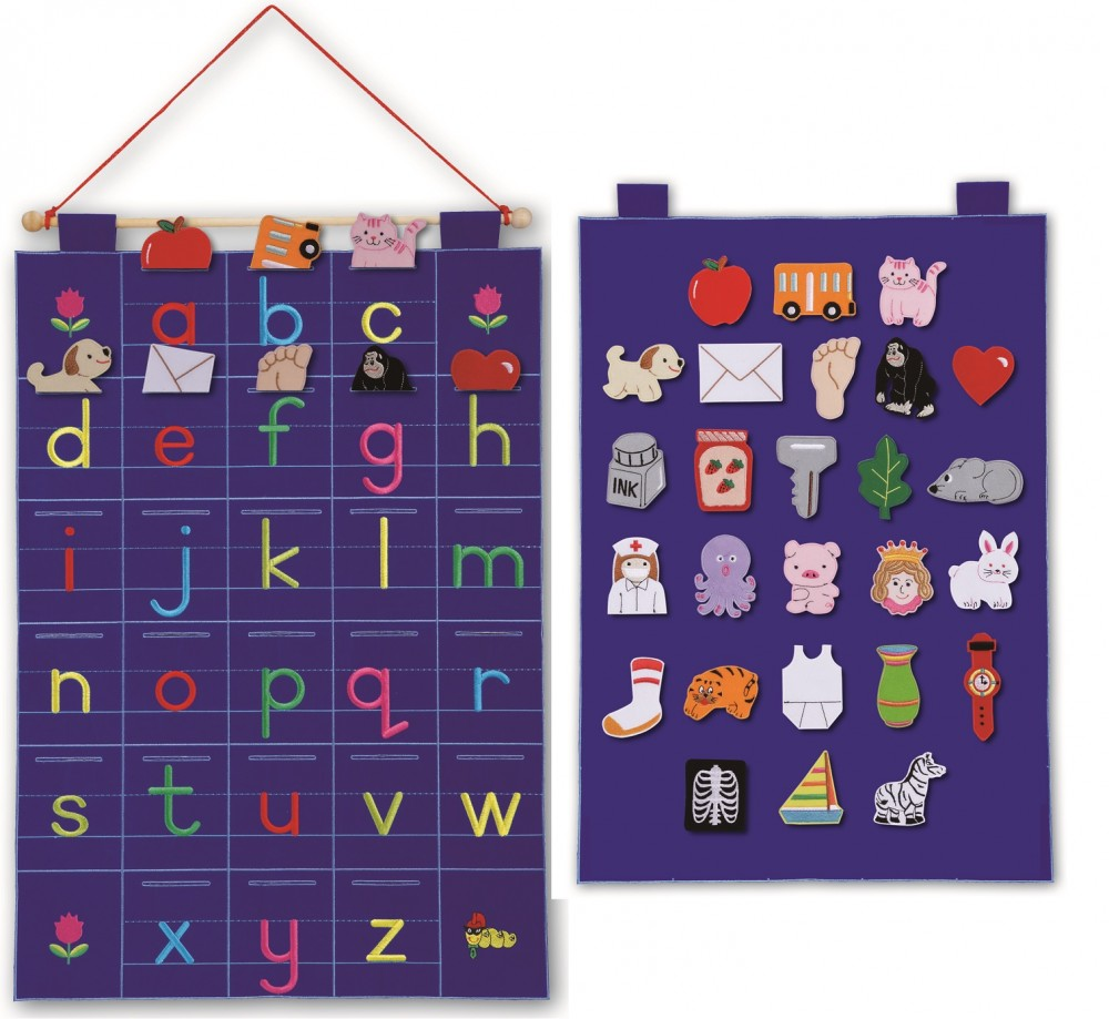 Lowercase Letters Wall Decor : Alphabet abc fabric wall hanging lower case letters