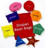 shapes bean bags ~ 8 brightly coloured shape bean bags