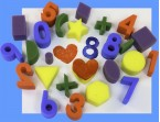 art sponges - 25 chunky number and shape sponges