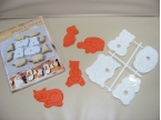 4 chunky fun animal 3d embossing dough & cookie cutters