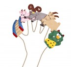 Beautifully made finger puppets featuring the colourful characters from the traditional fairy tale Three Billy Goats Gruff.  Excellent for storytelling and velcro pads make them perfect for displays   Ages:  3+  Price:  £6.50 Inc. VAT