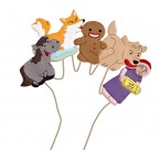 Beautifully embroidered felt finger puppets featuring the main characters from this favourite tale.  Velcro hooks make them ideal for storytelling, displays and tabletop activities.