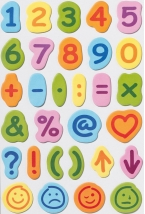 childrens sticky numbers & maths signs 30 shaped pads of 15 self adhesive sheets