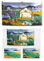 A beautifully crafted fabric wall hanging depicting the nativity scene with detachable felt pieces which can be arranged as required.  A wonderful interactive way to involve children in the real story of Christmas.   Price:  �146.88 inc. VAT
