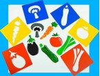 Excellent for supporting healthy eating topics this set of durable stencils depicts 6 familiar vegetables.  Suitable for a range of skill levels the stencils are ideal for creative activities and displays.  Ages:  3+  Price:  £2.95 inc. VAT