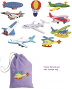 A delightful set of colourful felt motifs representing different forms of air transport.  Each motif features velcro hooks making them ideal for classroom displays and table top activities.  Ages:  3+   Prices from:  £12.95 inc. VAT