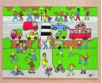 A colourful giant wooden tray puzzle showing a busy street scene around a park with children playing.  An excellent way of reinforcing the importance of road safety with young children.  Ages:  3+ Price:  £23.50 inc. VAT