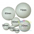 Solid polystyrene craft spheres which can be used for a wide range of craft and modelling activities.  Available in a range of sizes from 20mm to 70mm.  Ages:  3+  Prices:  £2.10 inc. VAT