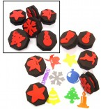 These brilliant paint sponges are fabulous for creating fun classroom displays and can be used for a wide range of creative activities.  Set of 5 sponges depicting familiar Christmas objects.  Ages:  3+  Price:  £4.00 inc. VAT