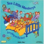 With innovative die cutting and bold, colourful illustrations this book is the perfect partner to our five little monkey song mitts and masks.  Designed to make this favourite counting song an active learning experience.  Ages: 2+ £5.00 & £10.50