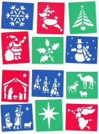 A brilliant set of washable stencils depicting six familiar nativity scenes. Excellent for craft activities and displays, these handy stencils encourage creativity from children with different levels of ability. Ages: 3+ Price: £2.95 inc. VAT