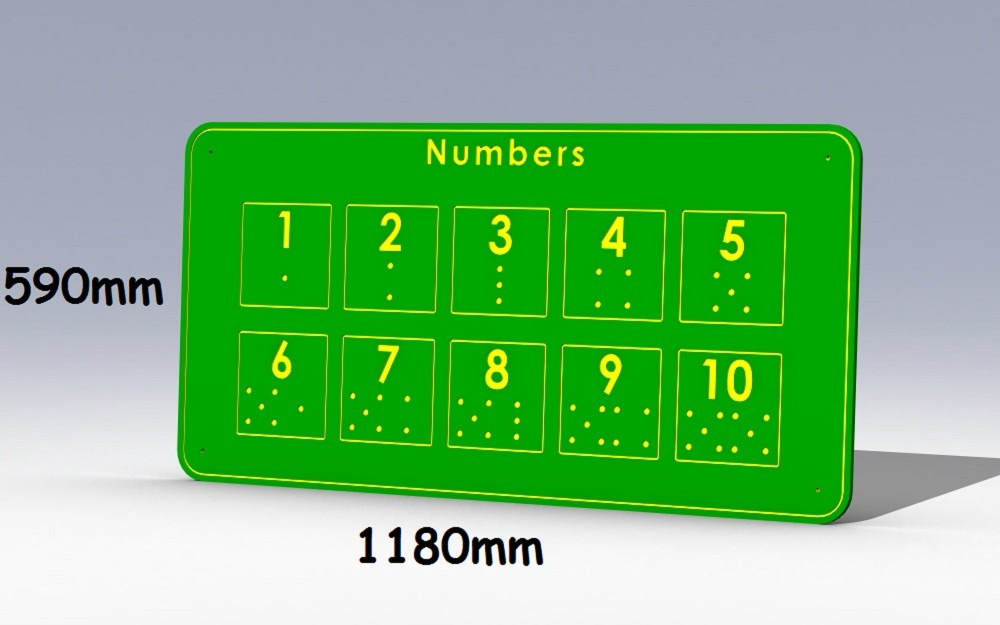 Giant Durable Weatherproof Hdpe Outdoor Tactile Learning Board Numbers